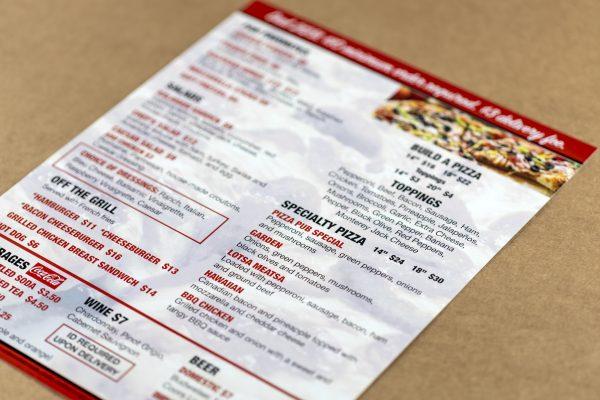 menu sample